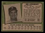 1971 Topps #469  Bob Aspromonte  Back Thumbnail
