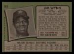 1971 Topps #565  Jim Wynn  Back Thumbnail