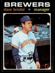 1971 Topps #637  Dave Bristol  Front Thumbnail