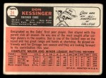 1966 Topps #24  Don Kessinger  Back Thumbnail