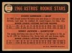 1966 Topps #244   -  Sonny Jackson / Chuck Harrison Astros Rookies Back Thumbnail