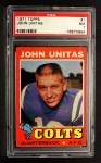 1971 Topps #1  Johnny Unitas  Front Thumbnail