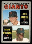 1970 Topps #401   -  Bernie Williams / John Harrell Giants Rookies Front Thumbnail