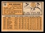 1963 Topps #280  Bob Rodgers  Back Thumbnail