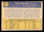 1970 Topps #524  Al Dark  Back Thumbnail