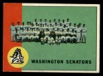 1963 Topps #131   Senators Team Front Thumbnail