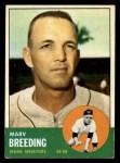 1963 Topps #149  Marv Breeding  Front Thumbnail