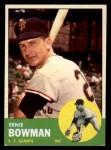 1963 Topps #61  Ernie Bowman  Front Thumbnail