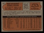 1972 Topps #337  Mike Kilkenny  Back Thumbnail