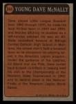 1972 Topps #344   -  Dave McNally Boyhood Photo Back Thumbnail