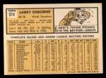 1963 Topps #514  Larry Osborne  Back Thumbnail