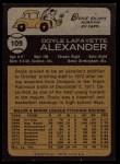 1973 Topps #109  Doyle Alexander  Back Thumbnail