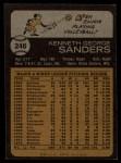 1973 Topps #246  Ken Sanders  Back Thumbnail