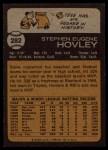 1973 Topps #282  Steve Hovley  Back Thumbnail