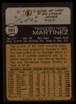 1973 Topps #161  Ted Martinez  Back Thumbnail