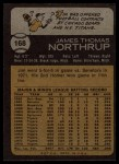 1973 Topps #168  Jim Northrup  Back Thumbnail