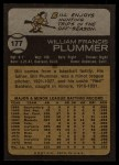 1973 Topps #177  Bill Plummer  Back Thumbnail