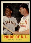 1963 Topps #138   -  Willie Mays / Stan Musial Pride of NL   Front Thumbnail