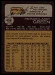 1973 Topps #456  Dick Green  Back Thumbnail