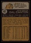 1973 Topps #487  Bruce Dal Canton  Back Thumbnail