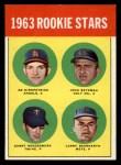 1963 Topps #386 ^COR^  -  Ed Kirkpatrick / John Bateman / Garry Roggenburk / Larry Bearnarth Rookies Front Thumbnail