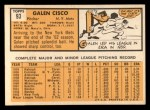 1963 Topps #93  Galen Cisco  Back Thumbnail