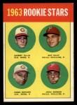 1963 Topps #29 III  -  Sammy Ellis / Ray Culp / John Boozer / Jesse Gonder  Rookie Stars Front Thumbnail