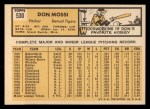 1963 Topps #530  Don Mossi  Back Thumbnail