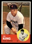 1963 Topps #176  Jim King  Front Thumbnail