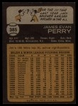 1973 Topps #385  Jim Perry  Back Thumbnail