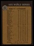 1973 Topps #203   -  Gene Tenace / George Hendrick / Johnny Bench 1972 World Series - Game #1 - Tenace the Menace Back Thumbnail
