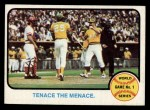 1973 Topps #203   -  Gene Tenace / George Hendrick / Johnny Bench 1972 World Series - Game #1 - Tenace the Menace Front Thumbnail