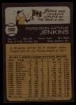 1973 Topps #180  Fergie Jenkins  Back Thumbnail