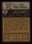 1973 Topps #182  Mike Caldwell  Back Thumbnail