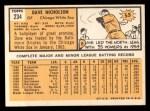 1963 Topps #234  Dave Nicholson  Back Thumbnail