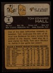 1973 Topps #8  Tom Hall  Back Thumbnail