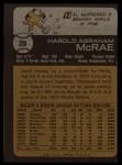 1973 Topps #28  Hal McRae  Back Thumbnail