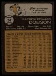 1973 Topps #34  Pat Dobson  Back Thumbnail