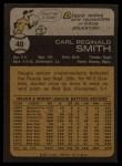 1973 Topps #40  Reggie Smith  Back Thumbnail