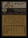 1973 Topps #57  Derrel Thomas  Back Thumbnail