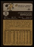 1973 Topps #71  Johnny Briggs  Back Thumbnail
