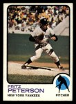 1973 Topps #82  Fritz Peterson  Front Thumbnail
