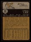 1973 Topps #83  Leron Lee  Back Thumbnail