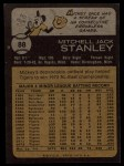 1973 Topps #88  Mickey Stanley  Back Thumbnail