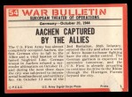 1965 Philadelphia War Bulletin #54   Stubborn Enemy Back Thumbnail