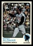 1973 Topps #123  Sandy Alomar  Front Thumbnail