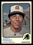 1973 Topps #144  Marty Perez  Front Thumbnail