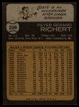 1973 Topps #239  Pete Richert  Back Thumbnail