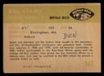 1961 Fleer #141  Bill Atkins  Back Thumbnail