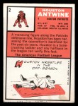 1966 Topps #2  Houston Antwine  Back Thumbnail